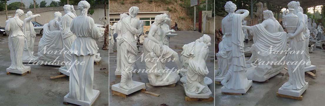 Marble Apollo bathing statue
