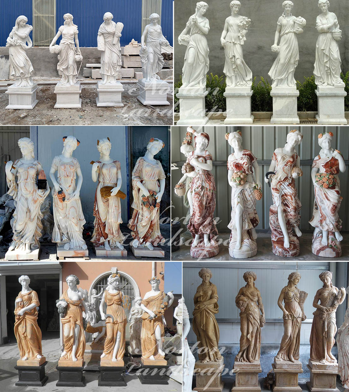 Marble four seasons goddess statues