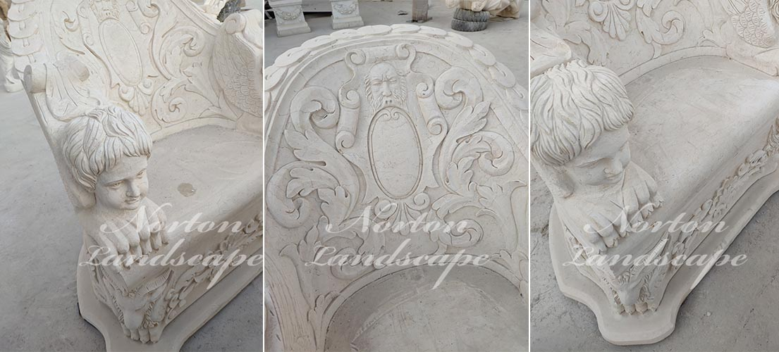 Luxury marble table and chair