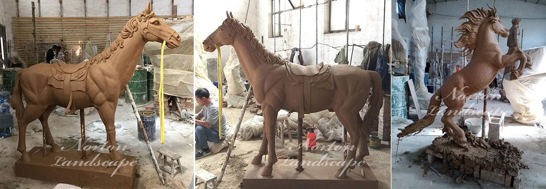bronze  horse sculpture