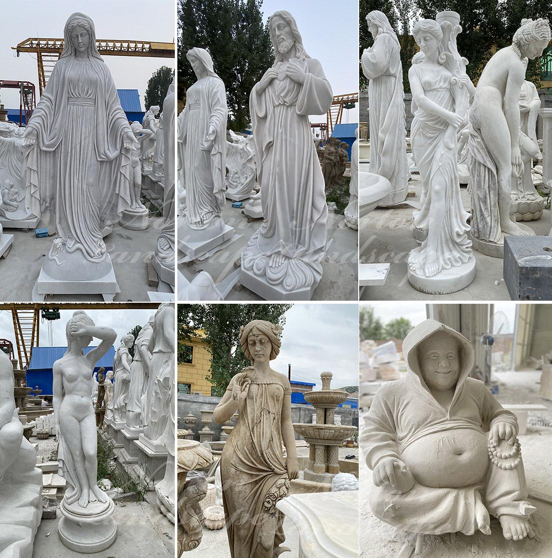 marble nude man sculpture