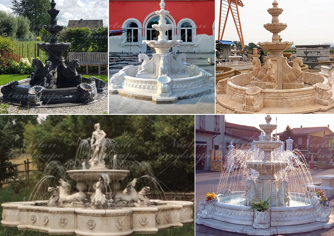 Marble Horse Water Fountain