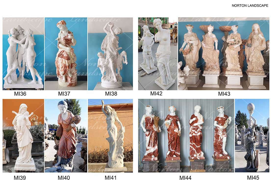 Marble woman statue