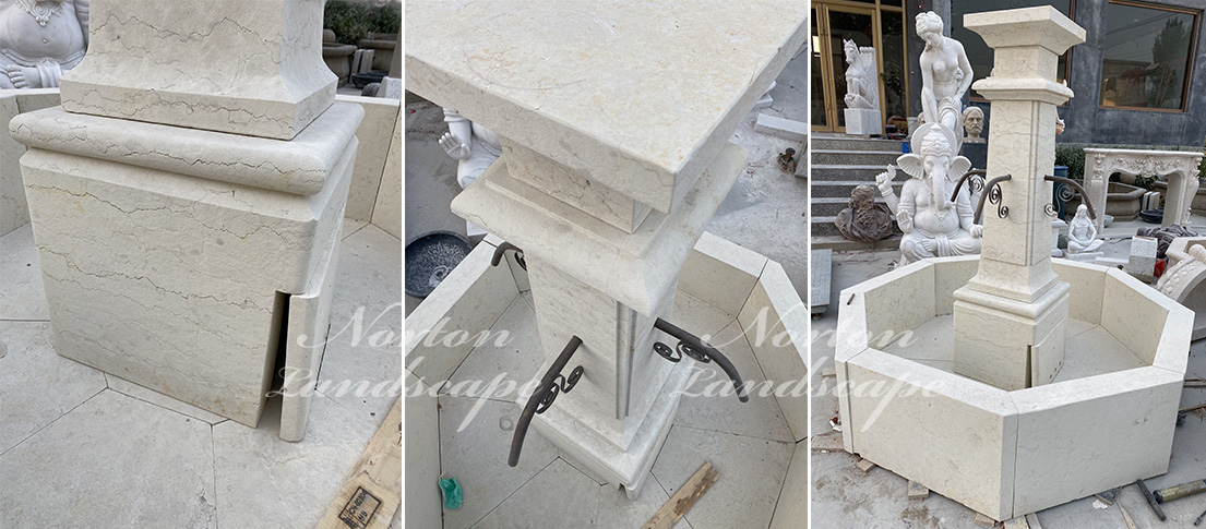 French style stone fountain