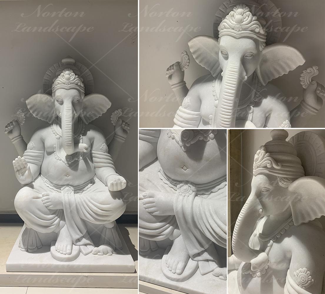 Marble ganesha statue sculpture