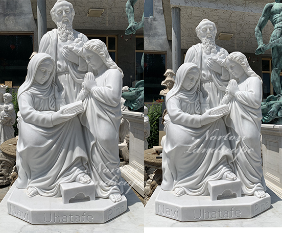Marble religion sculpture