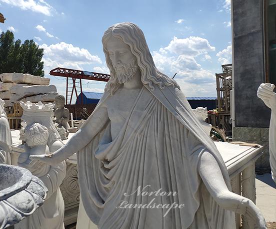 Marble religion sculpture