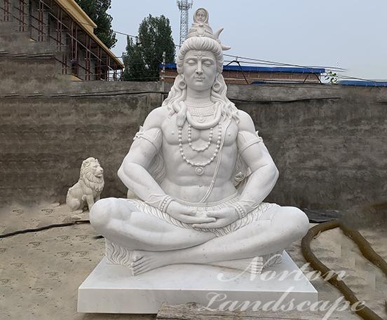 white stone Shiva statue