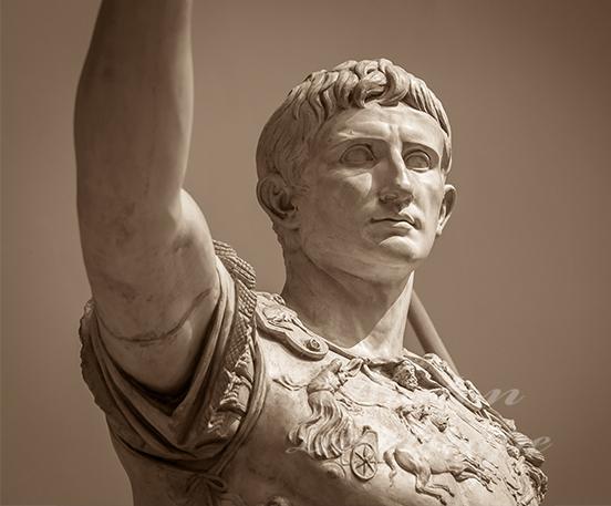 marble Roman figure Augustus statue