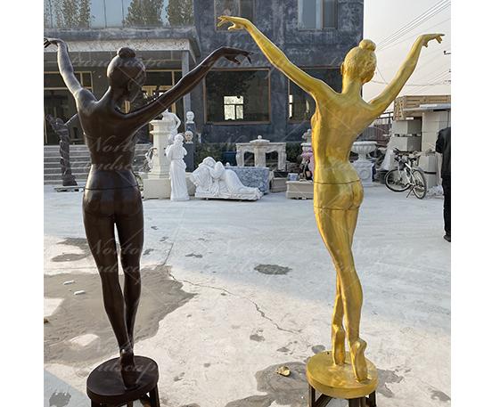 Bronze woman fountain sculpture