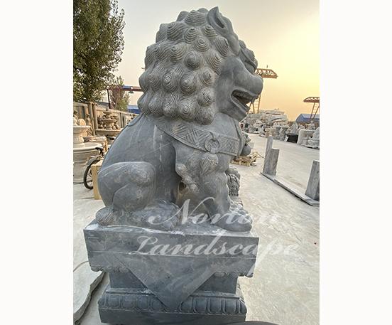 Granite foo dog statue