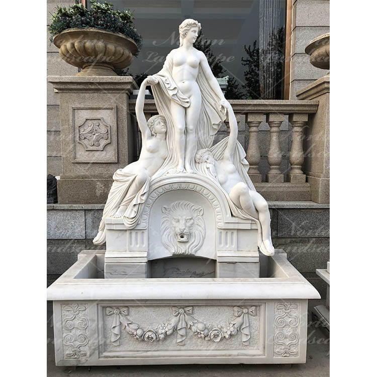 Nude lady marble wall fountain