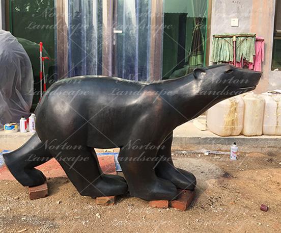 bronze polar bear statue