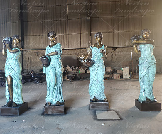 Bronze four seasons statues