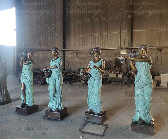 Bronze four seasons statues