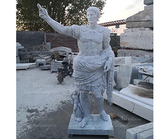 Marble Roman Emperor Augustus Statue