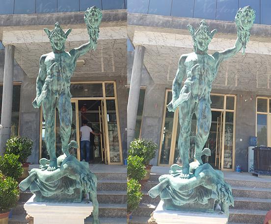 Perseus holding head of Medusa
