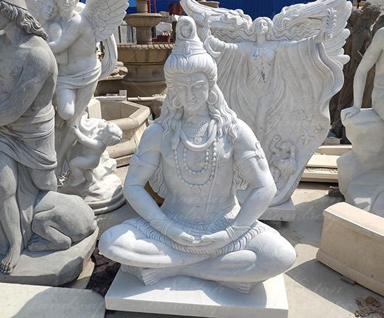 white marble shiva statues