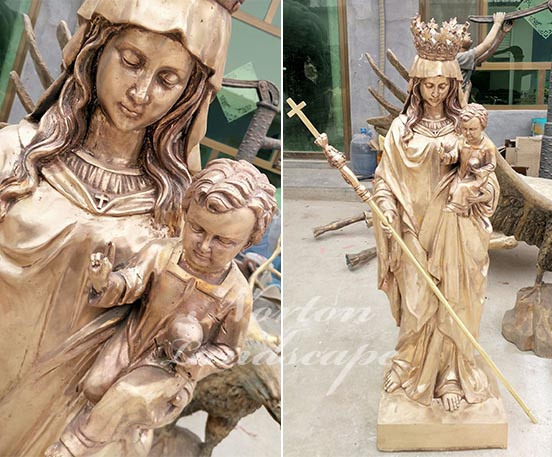 Bronze brass virgin mary statues