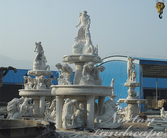 Large marble garden water fountain