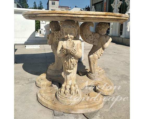 Antique marble table with statues