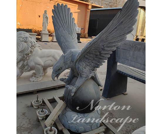 Black marble eagle statue