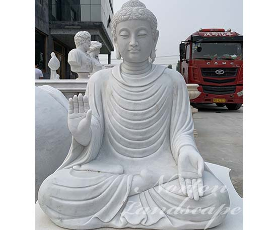 Stone carving marble buddha statue