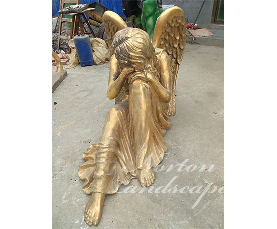 Bronze angel statues