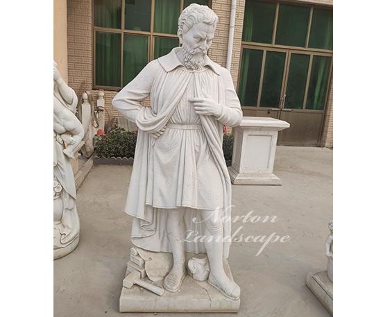 Marble roman man statues