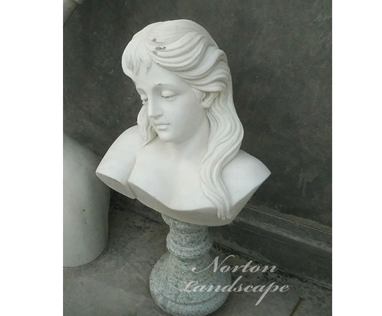 Marble woman bust statue