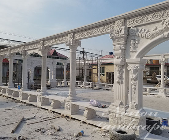 Large outdoor marble gazebos