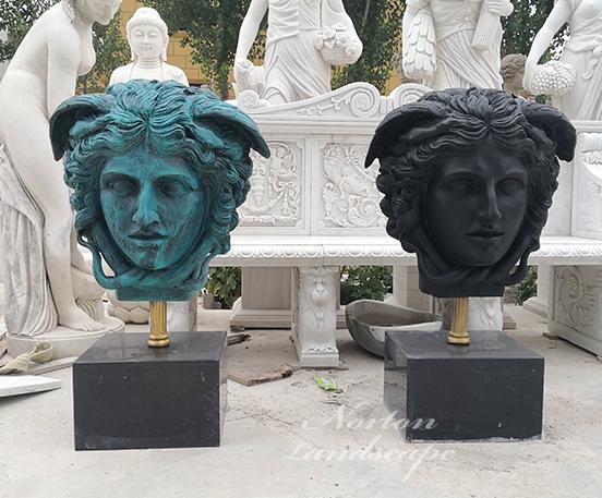Medusa bronze bust statue