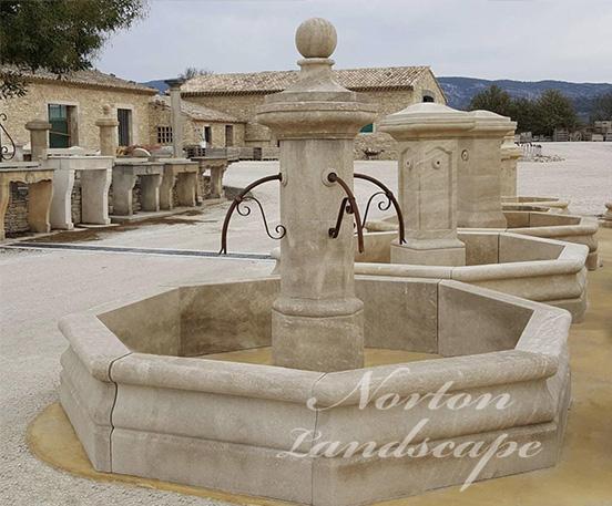 Antique stone marble fountain