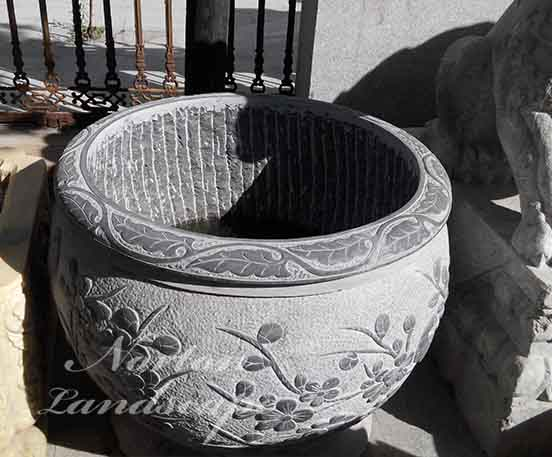 Antique Chinese style granite flower pots