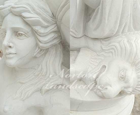 Large white marble figure statues flower pots