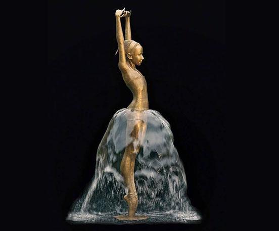Bronze Ballet Girl Fountain Sculpture