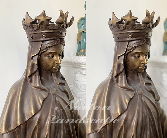 Bronze brass virgin mary statue