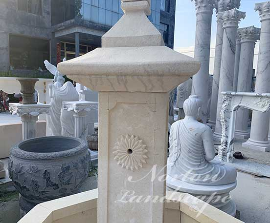 Antique French sandstone water fountain