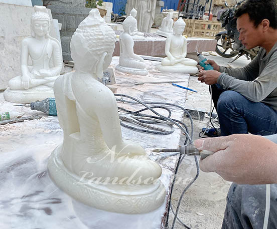 White marble small buddha statues