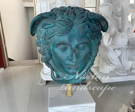 Bronze Medusa head statue