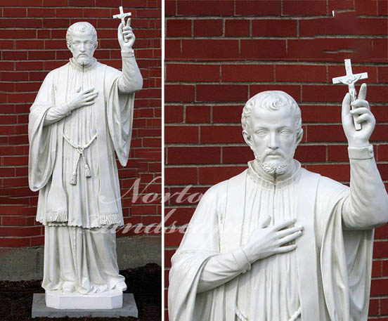 st francis xavier marble statue