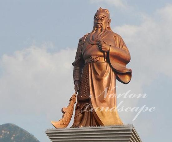 Bronze guan gong statue