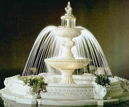 Antique marble water fountain