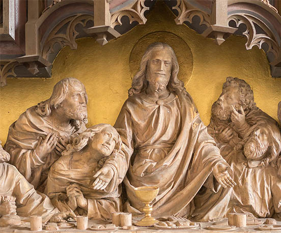 The Last Supper Marble Relief Sculpture